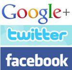 Twitter, Facebook y Google+ en propaganda posters #Humor gráfico