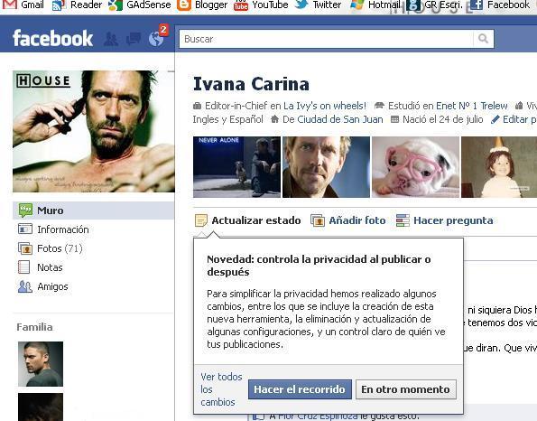 Probando los cambios de privacidad en Facebook