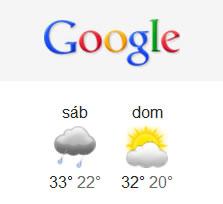 El tiempo en Google Chrome