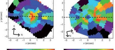 Dos agujeros negros, los más grandes de los que tengamos datos