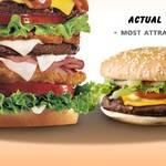 Lo que nos muestra un aviso de comidas y lo que realmente nos venden
