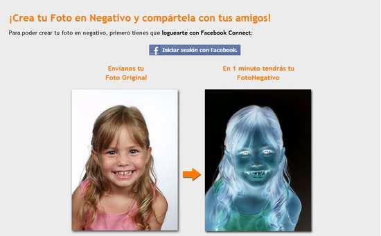 Crea el negativo de una foto de Facebook y prueba una ilusión óptica que te sorprenderá