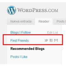 """WordPress.com se hace más social y nos ayuda a conectarnos con amigos con """"Find Friend"""""""