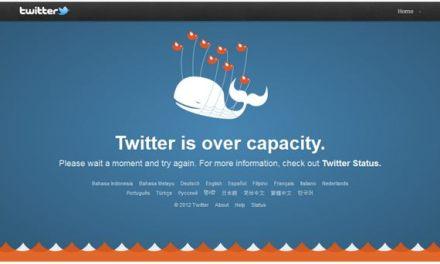 Twitter esta caído desde hace una hora aproximadamente