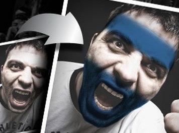 Pinta tu cara con tu bandera / BlackBerry te ayuda con aplicación. #Olympics