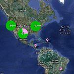 Mapa con los proveedores de partes para productos de Apple