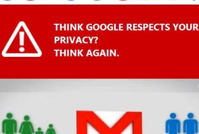 Microsoft sigue con su campaña contra Google. Ahora contra gmail y su privacidad
