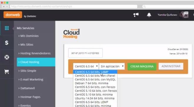 cloud-donweb-panel