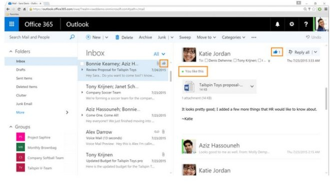 outlook-office-365-like-button