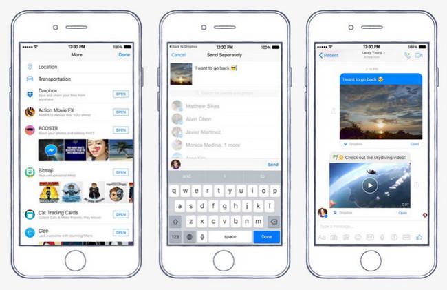 Ahora se pueden compartir ficheros de Dropbox desde Facebook Messenger