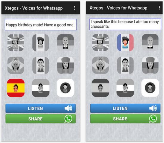 Comparte tus mensajes de WhatsApp con voces divertidas