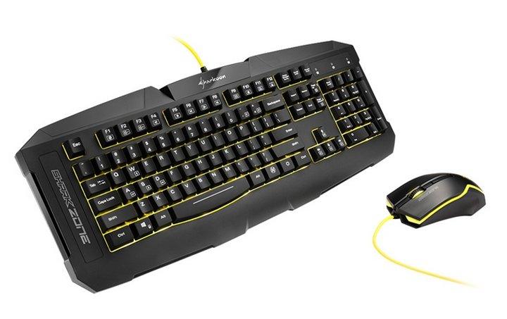 Sharkoon anuncia un nuevo combo teclado/ratón económico para gamers: Shark Zone GK15