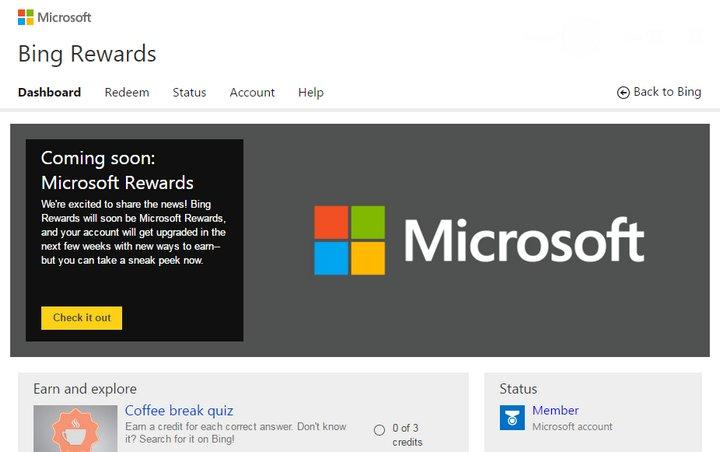 Bing Rewards - Microsoft Rewards