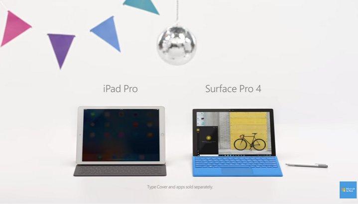 Microsoft Surface 4 - Ipad Pro