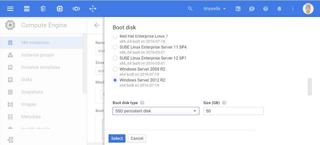 google cloud instalacion booteo