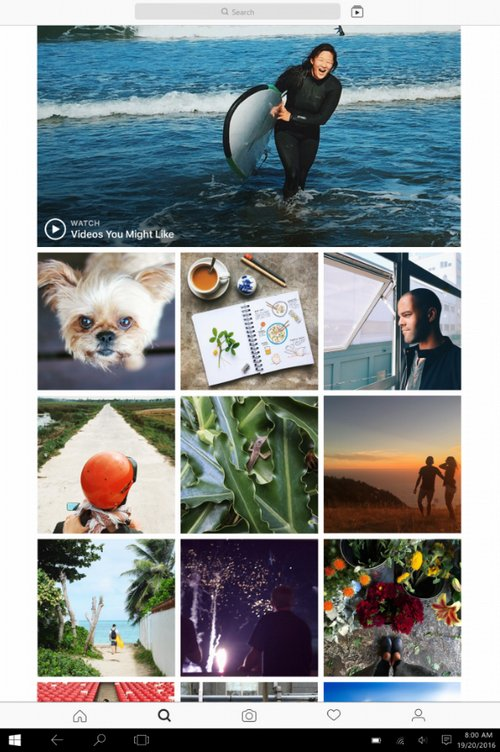 Instagram para Tabletas Windows 10