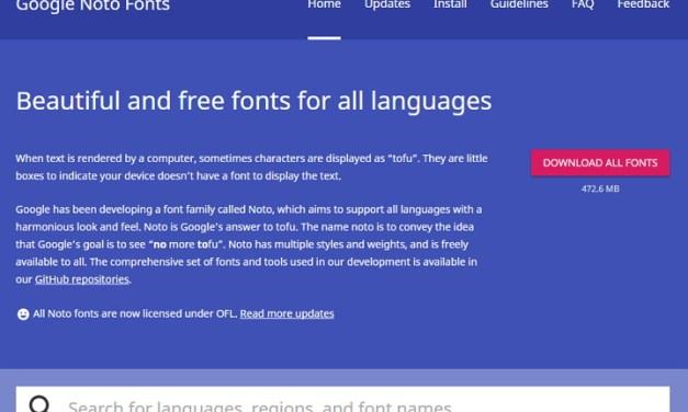 Noto es la fuente open source de Google que cubre 800 idiomas y 110.000 caracteres