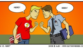 """Geek vs Nerd"" from GuysGoneGeek.com"