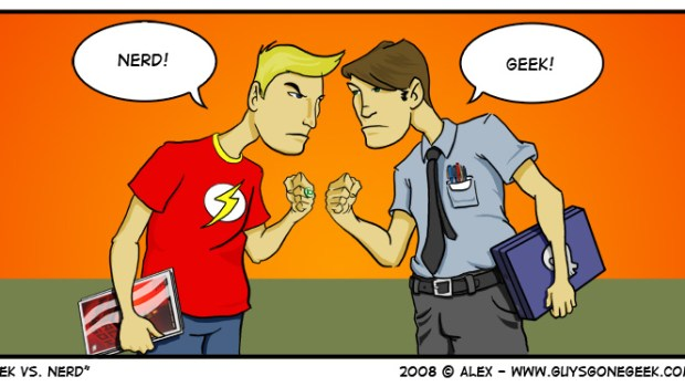 """Geek vs Nerd"" from GuysGoneGeek.com"