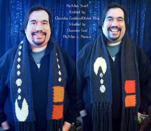 Knit: A Pac Man Scarf Geek Crafts