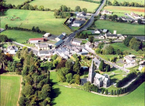 Aerial View Of Carlow, Ireland
