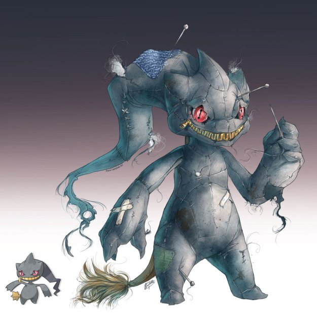 realistic_pokemon_sketches__banette_by_nauvasca-d6aun2y