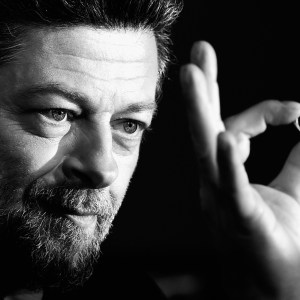 """HOLLYWOOD, CA - DECEMBER 09:  (EDITORS NOTE: This image has been converted from color to B/W).   Actor/Director Andy Serkis arrives at the Premiere Of New Line Cinema, MGM Pictures and Warner Bros. Pictures' """"The Hobbit: The Battle Of The Five Armies"""" at Dolby Theatre on December 9, 2014 in Hollywood, California.  (Photo by Frazer Harrison/Getty Images) ** OUTS - ELSENT, FPG - OUTS * NM, PH, VA if sourced by CT, LA or MoD **"""