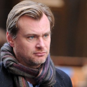 "Director Christopher Nolan works on the set of the latest Batman film, ""The Dark Knight Rises"" on Wall Street in New York on Sunday Nov. 6, 2011. (AP Photo/Darla Khazei)"