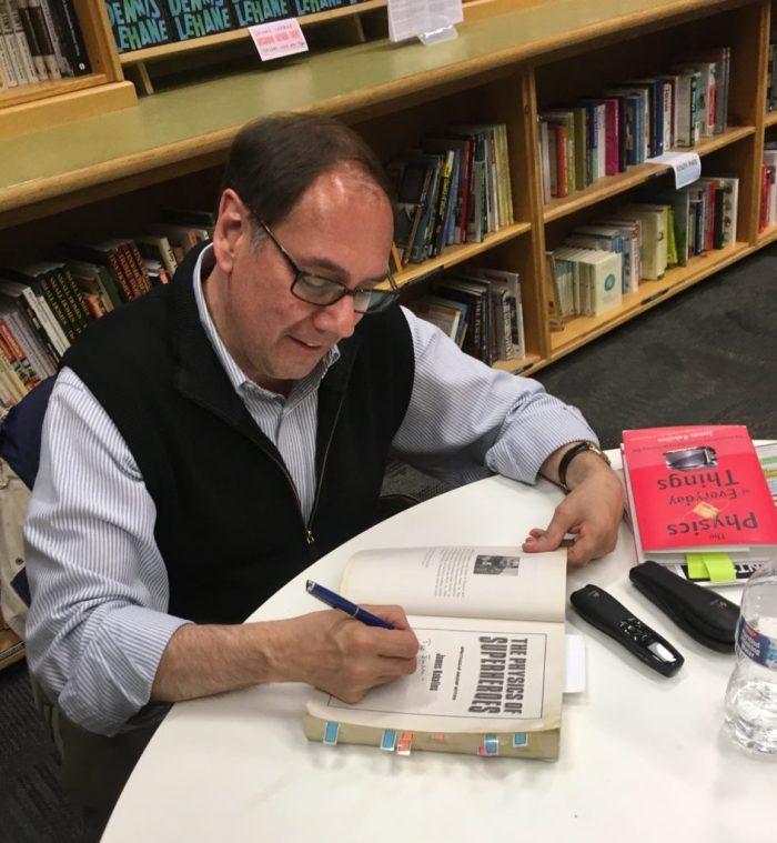 James Kakalios signing books