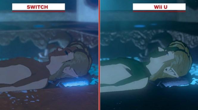 Vídeo comparativo de las versiones 'The Legend of Zelda: Breath of the Wild'