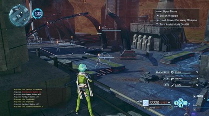 Dengeki Online ha mostrado un nuevo gameplay de 'Sword Art Online: Fatal Bullet'