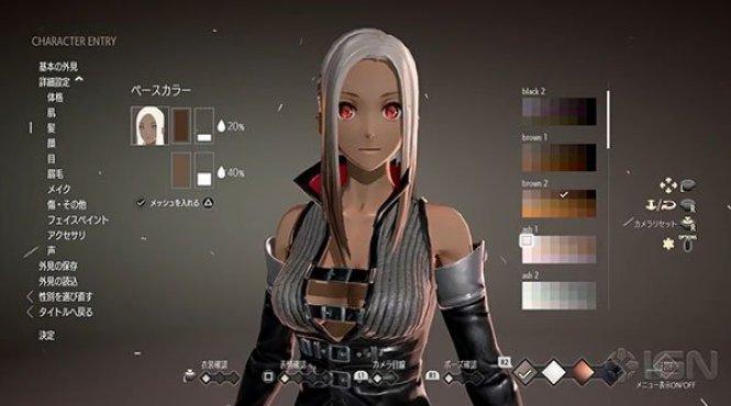 Mostrada la personalización de personajes de 'Code Vein'
