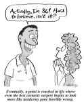 Cosmetic surgery cartoon