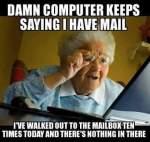 Grandma checking email