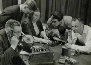 Opname_van_een_hoorspel_Recording_a_radio_play