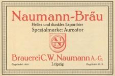 Plagwitz, Brauerei Naumann, Anzeige von 1927