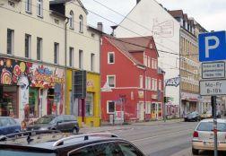 Fleischerei-Reißaus-Werbung in Plagwitz, Januar 2014