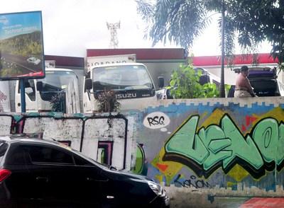 San Juan graffiti with colorful basketball backboard