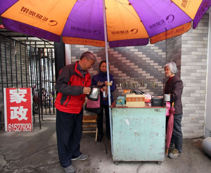 key duplicator street stall