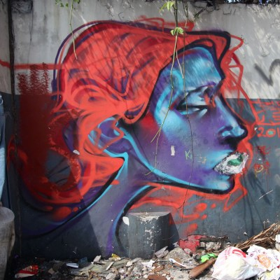 Graffiti in Two Parking Lots on Quezon Avenue