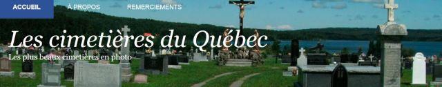 Cimetieres du Quebec_home page