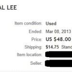 Ebay Gen Lee Auction 1