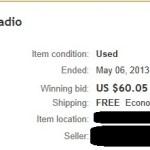Ebay Gen Lee Auction 2
