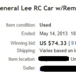 Ebay Gen Lee Auction 7