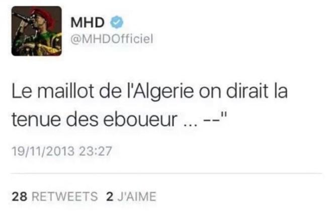 Le rappeur MHD piraté à cause d'un tweet sur l'Algérie !