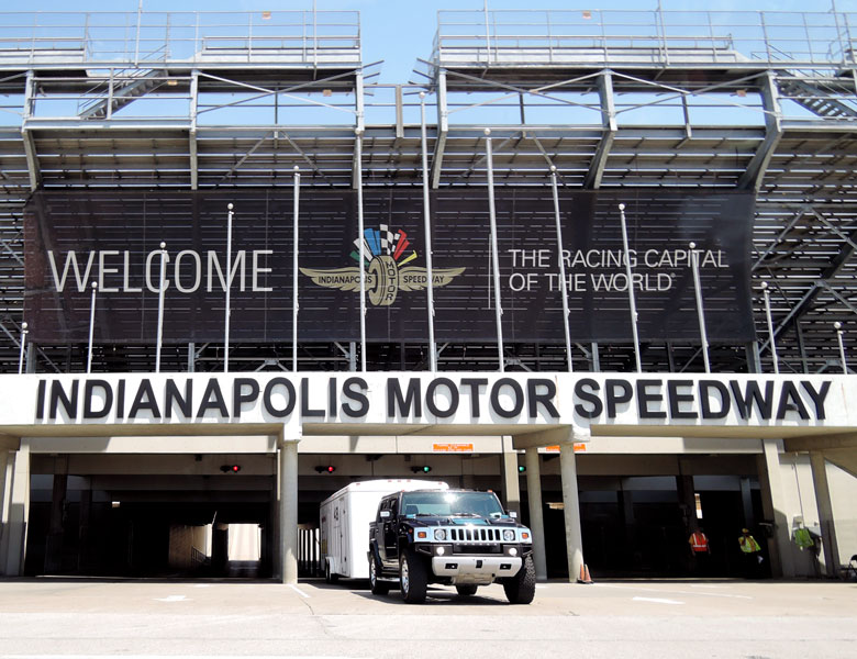 "We have arrived at the ""Racing Capital of the World"": The Indianapolis Motor Speedway for the SVRA Brickyard Invitational!"