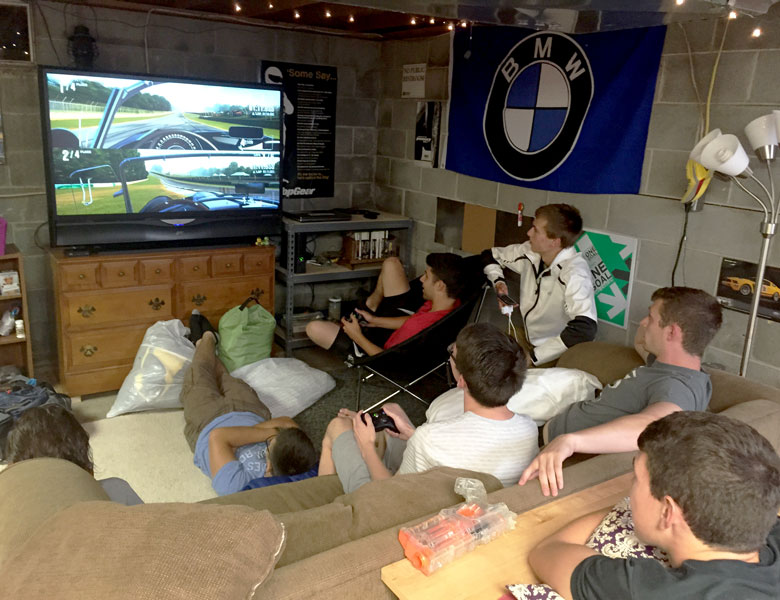 "The boys take turns playing ""Race Car Driver"" in the Forza video game!"