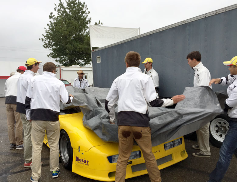 Time to fold up the rain tarp and get ready to leave Mid-Ohio. It's been a very fun experience!