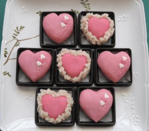 義父へのバレンタイン用の和菓子
