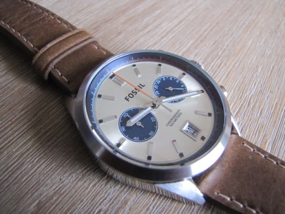 montre fossil del rey chronographie cuir
